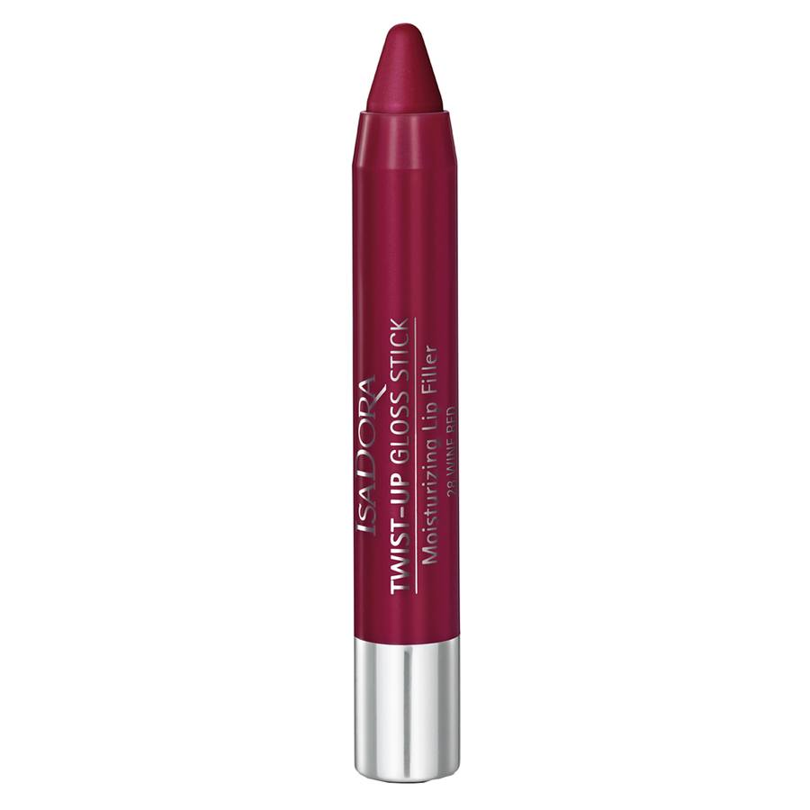 IsaDora Twist-Up Gloss Stick, 28 Wine Red (3,3 g)