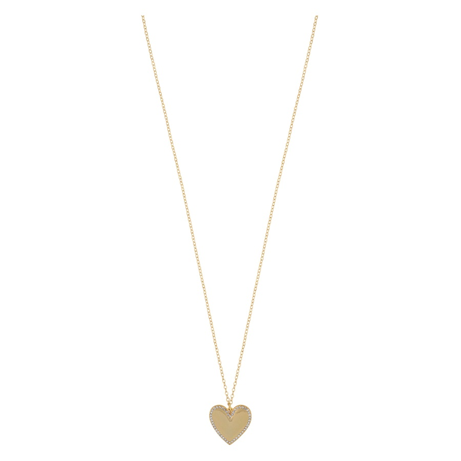 Snö of Sweden Mii Stone Pendant Necklace, Gold/Clear (42 cm)